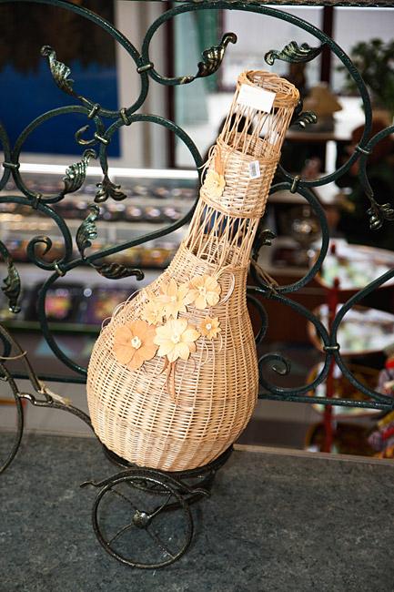 фото вазы плетеные